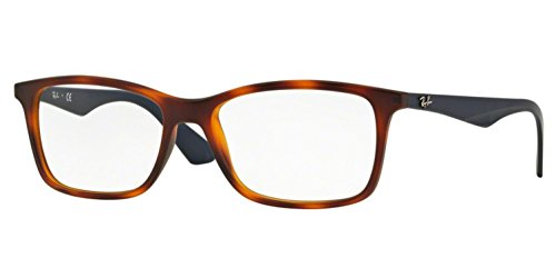 Ray-Ban Men's RX7047 Eyeglasses Matte Light Havana 56mm (Ray-bans Rx)