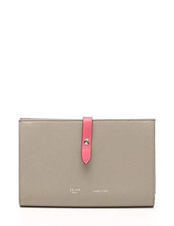 a30bd71da2d3 Amazon.co.jp: (セリーヌ) CELINE ストラップ ラージ マルチファンクション 二つ折り長財布 レザー グレー ピンク GINZA  SIX限定 中古: 服&ファッション小物