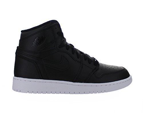 Nike Jordan Kids Air Jordan 1 Retro High OG Bg negro/negro/blanco Basketball Shoe 5.5 Kids US