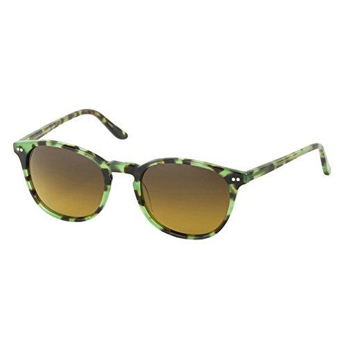 Eagle Eyes Celeste Women's Sunglasses - Green Tortoise Round Polarized ()