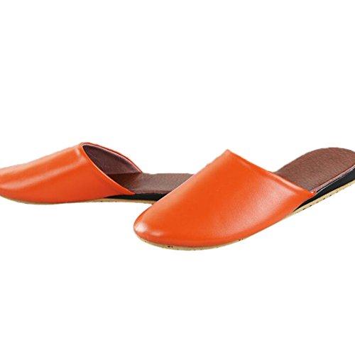 Femme Orange TELLW Women pour Chaussons q6w8n1RH