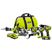 Ryobi 18-Volt ONE+ Lithium-Ion Ultimate Combo Power Tool Kit (6-Tool) - Model: P884