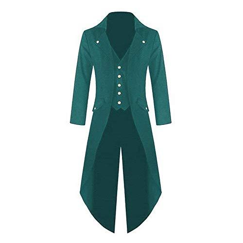 Cómodo Grün Steampunk Coat Chaqueta Punto Jacket Chaqueta De Gothic Cosplay Long Battercake Uniform Vintage Tuxedo Victoriana qH7Zwt