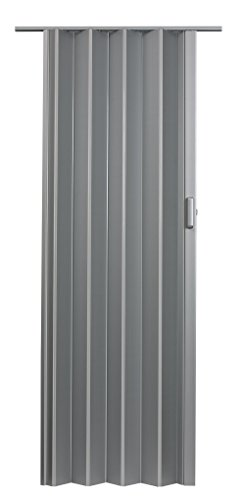 LTL Home Products EL3680S Elite Interior Accordion Folding Door, 36 x 80 Inches, Satin Silver