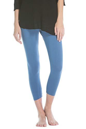 (Fishers Finery Ecofabric Capri Legging; Casual Lounge Legging (Blue, S))