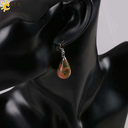 (Classic Tear Water Drop Natural Crystal Earring for Women | Decoration 16 Colors)