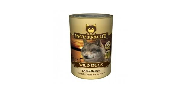 Wolf sangre lata Wild Duck 395 g de 12PACK: Amazon.es: Productos para mascotas