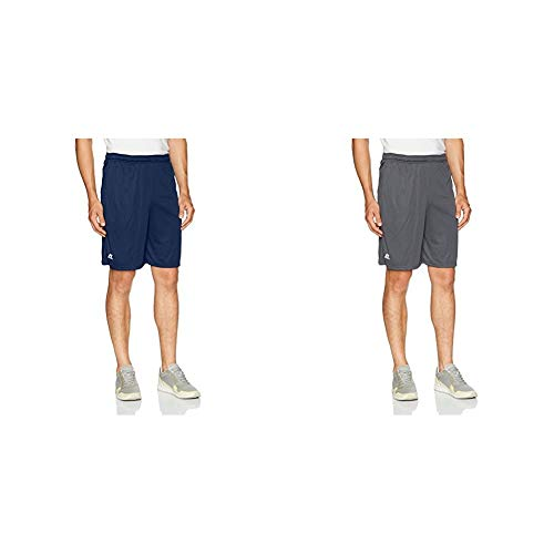 Russell Athletic Men's Dri-Power Performance Short with Pockets, Navy & Stealth, M