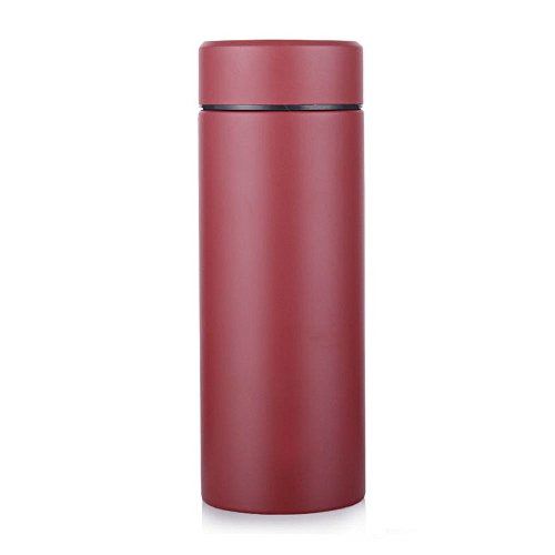 Awayyang Stainless Steel Bottle 15 Ounce Thermos Mug With Filter Screen (Red)