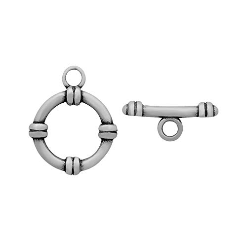 ARRICRAFT 10 Sets Stainless Steel Bar & Ring Toggle Clasps Jewelry Components End Clasps for Bracelet Necklace Making