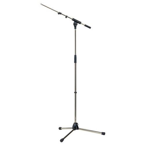 K & M Microphone Stand w/telescopic boom arm