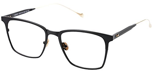 Eyeglass Alloy Frame (SOOLALA Womens Mens Alloy Full Frame Unique Clear Lens Eyeglass Reading Glass, Black, 1.5D)