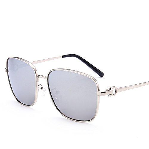 LXKMTYJ Les hommes lunettes de soleil Lunettes de soleil polarisées Chaoren Pilote miroir conduite Gradient Mirror Lunettes élégantes, le Mercure Chip