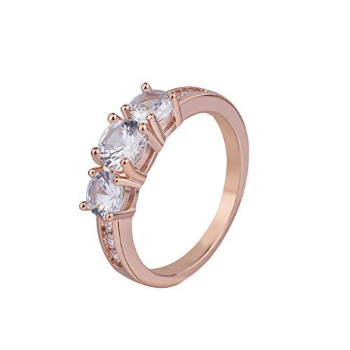 (Women Micro-inlaid Zircon Ring Simple Stylish Double-row Ring)