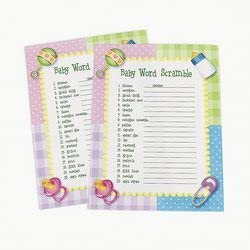 Baby Word Scramble Baby Shower Game - 24 Pieces