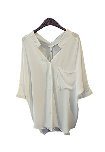 ARJOSA Womens Pocket Sleeve Button Down