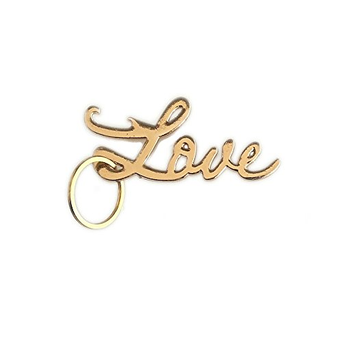 Wedding Favors Love Key Chain Bottle Opener bachelorette Party Gift Favor (Gold) Valentines day gifts for him (Keychain Love)