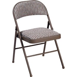 Deluxe Padded Steel Fabric Folding Chair Brown Amazon