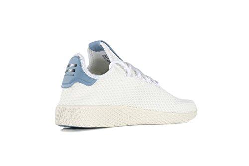 Adidas Originali Mens Pharrell Williams Razza Umana Bianco / Bianco / Blu 5 D Us