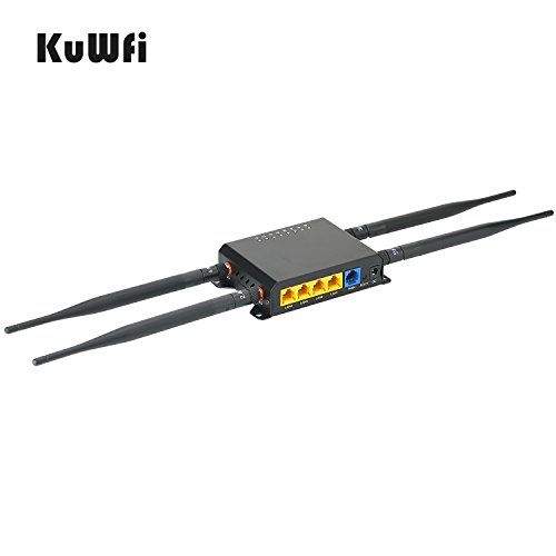 KuWFi 300Mbps 3G 4G LTE Car WiFi Wireless External Antenna Router Extender  Strong Signal OpenWRT Car WiFi Router with USB Port SIM Card Slot with