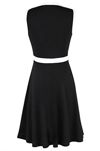 Azbro Vestido Negro Y Blanco Partes Diferentes Black