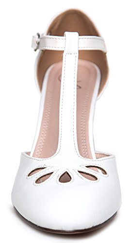 J. Adams Mary Jane Pumps - Vintage Tear Drop Cutout Low Kitten Heels 9SxLWFh