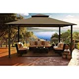 Kingsbury 11′ x 14′ Soft Top Gazebo with Sunbrella cover COCOA Review