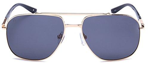 Priv  Revaux  The Dealer  Handcrafted Designer Polarized Aviator Sunglasses For Men   Women  Gold