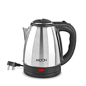 Milton Insta Electric 1200 Stainless Steel Kettle, 1.2 Litres, Silver
