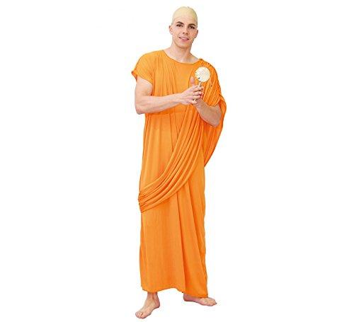 Fiestas Guirca Men's Hare Krishna Buddhist Monk Robe Cloak Religious Fancy Dress medium/large Orange -