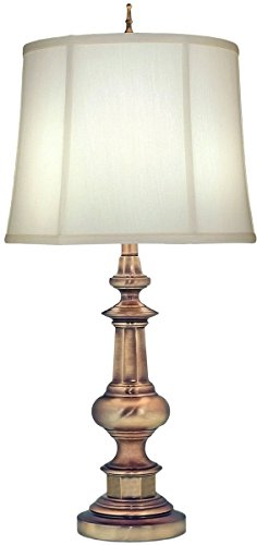 Stiffel TL-N6561-AB One Light Table Lamp, Antique Nickel Finish with Ivory Shadow Shade