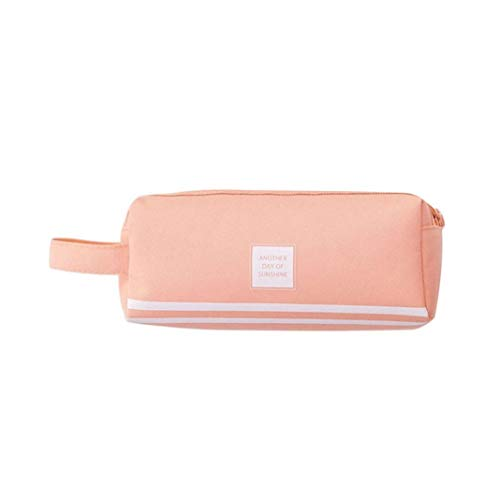 (opOpb213IL Pencil Case Kids School Supplies,Large Capacity Pen Pencil Case Bag Stationery Storage Organizer Makeup Pouch - Pink)
