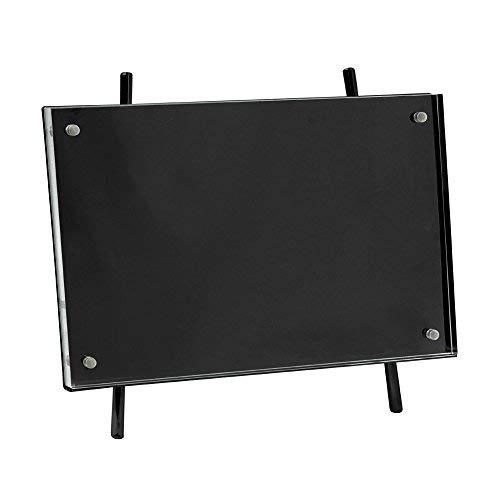 Isaac Jacobs 4x6 Black Magnetic Acrylic Metal Easel Frame (4x6 Horizontal) (Black)