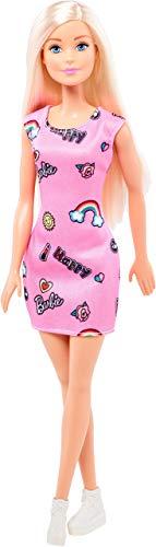 Barbie Chic poupée blonde avec robe rose et chaussures blanches, jouet pour enfant, FJF13 (Renewed)