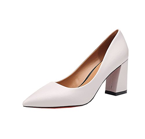 Dream Retro Chunky Heel High Heels Female Shallow Mouth Gray Wedding Shoes Bridesmaid Shoes Gray