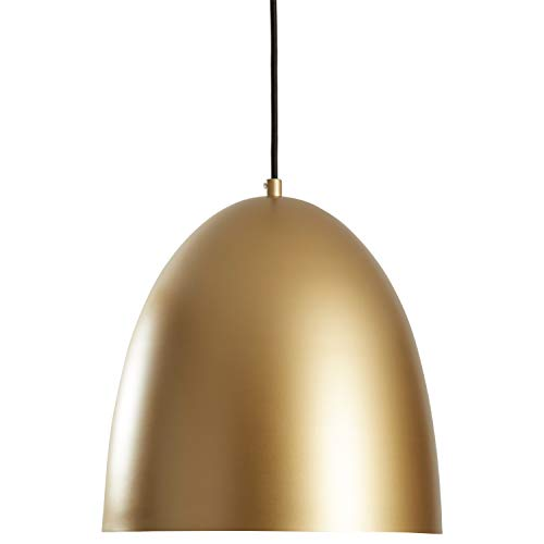 - Rivet Mid-Century Dome-Shaped Pendant Light with Bulb, 60