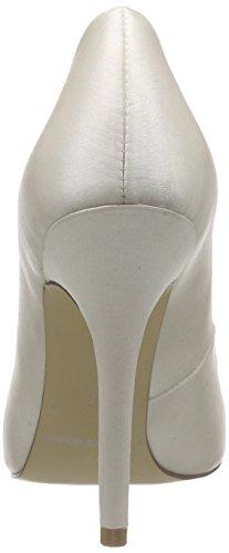 Menbur Wedding Vanessa - zapatos de tacón cerrados de raso mujer marfil - Elfenbein (Ivory 04)