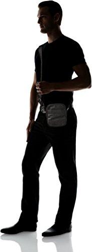 Trussardi Jeans 71b00028-1y000058, Borsa Messenger Uomo, Nero, 16 x 18 x 6 cm (W x H x L)