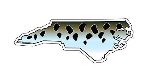 Mountain Creek Anglers North Carolina Speckled Sea Trout Sticker Decal ()