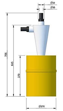 BZT - Separador ciclónico para aspiradora, 20 l: Amazon.es: Industria, empresas y ciencia