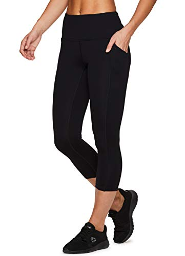 RBX Active Women's Power Hold High Waist Leggings with Pockets Black L