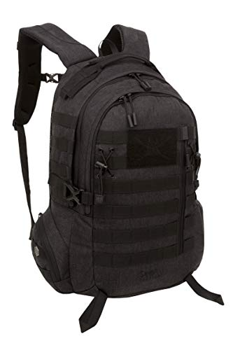 - Samurai Tactical Hanzo Day Pack, Black Heathered Woven