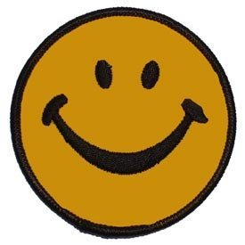 Novelty Embroidery Iron on Patch - Street Style Collection - Smiley Face Applique