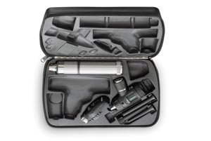 Welch Allyn 96220 Veterinary Diagnostic Set Including Coaxial Ophthalmoscope, Pneumatic Otoscope, Rechargeable 60 minutes Power Handle and Hard Storage Case, 3.5V (Ophthalmoscope Pneumatic Otoscope)