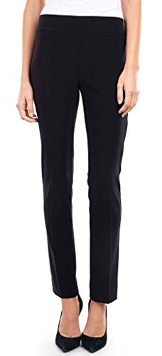 Joseph Ribkoff Black Elastic Waist Pull-On Stretch Pants Style L143105 - Size 8 by Joseph Ribkoff