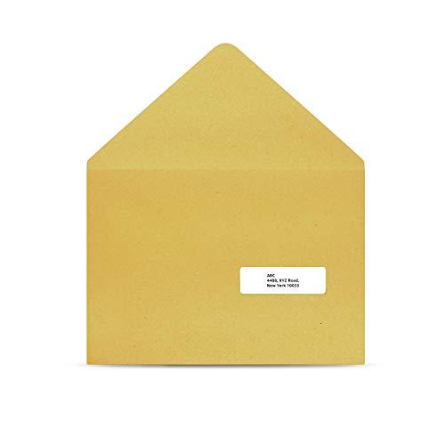 AmazonBasics Fast Peel Address Labels for Laser/Inkjet Printers, White, 1 x 2-5/8 Inch Label, 3,000 Labels