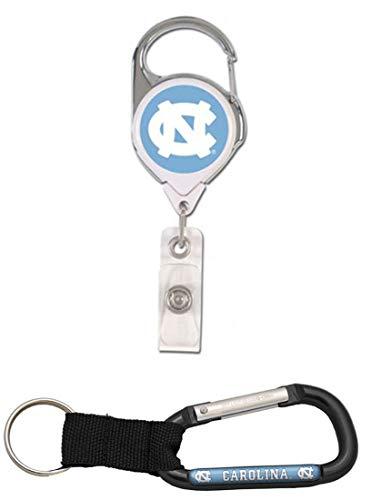 WinCraft Bundle 2 Items: North Carolina Tar Heels UNC Carabiner and 1 Premium Badge Reel Id Holder by WinCraft (Image #3)
