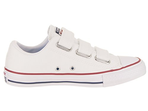 Converse Vrouwen Chuck Taylor All Star 3v Ox Casual Schoen Witte Insignia Blauwe Granaat