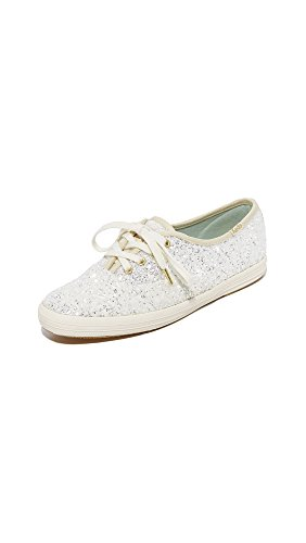 Keds Women's x Kate Spade New York Glitter Sneakers, Cream, 8 M US by Keds