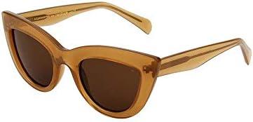 A Kjaerbede - Occhiali da sole Stella, marrone chiaro trasparente